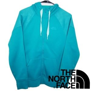 NWOT The North Face Teal Sweater Hoodie Full Zip S
